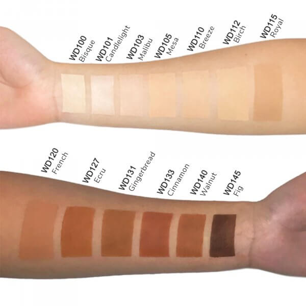 dual blend powder foundation swatches